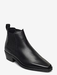Clarks - Alcina Top - platta ankelboots - black leather - 0