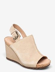 Clarks - Flex Stitch - kilklackar - taupe leather - 0