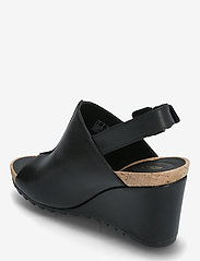 Clarks - Flex Stitch - högklackade sandaler - black leather - 2