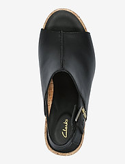 Clarks - Flex Stitch - högklackade sandaler - black leather - 3