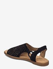 Clarks - Reyna Swirl - platta sandaler - black sde - 2
