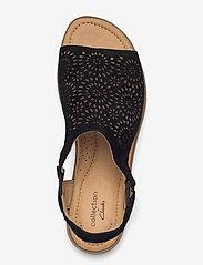 Clarks - Reyna Swirl - platta sandaler - black sde - 3