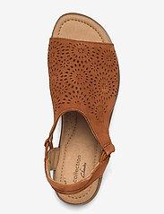 Clarks - Reyna Swirl - platta sandaler - dark tan suede - 3