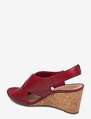 Clarks - Margee Eve - kilklackar - red leather - 2