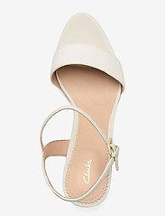 Clarks - Vista Strap - högklackade sandaler - white combi - 3