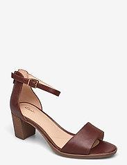 Clarks - Kaylin60 2Part - högklackade sandaler - tan leather - 0