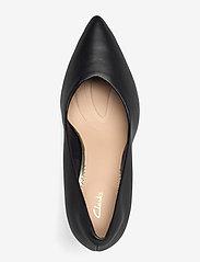 Clarks - Genoa85 Court - klassiska pumps - black leather - 3