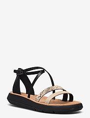 Clarks - Jemsa Strap - platta sandaler - black combi lea - 1