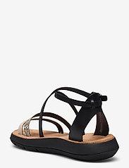 Clarks - Jemsa Strap - platta sandaler - black combi lea - 2