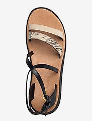 Clarks - Jemsa Strap - platta sandaler - black combi lea - 3