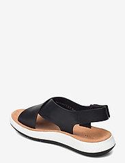 Clarks - Jemsa Cross - platta sandaler - black leather - 2