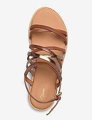 Clarks - Karsea Ankle - platta sandaler - tan leather - 3