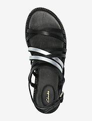 Clarks - Karsea Ankle - platta sandaler - black combi lea - 3