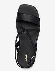 Clarks - Ofra Strap - platta sandaler - black leather - 3