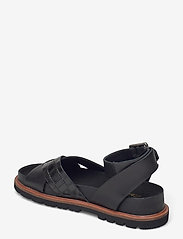 Clarks - Orianna Cross - platta sandaler - black combi lea - 2