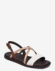 Clarks - Ofra Strap - platta sandaler - taupe combi lea - 1