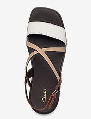 Clarks - Ofra Strap - platta sandaler - taupe combi lea - 3