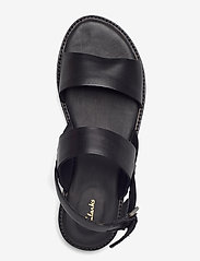 Clarks - Karsea Strap - platta sandaler - black leather - 3