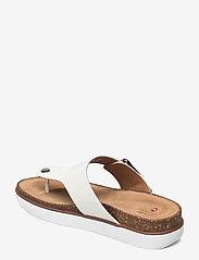 Clarks - Elayne Step - platta sandaler - white patent - 2