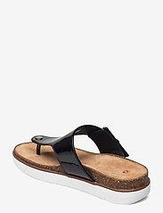 Clarks - Elayne Step - platta sandaler - black pat lea - 2