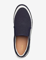 Clarks - Aceley Step - loafers - navy canvas - 3