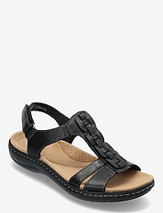 Clarks - Laurieann Kay - platta sandaler - black leather - 0