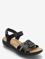 Clarks - Laurieann Sela - platta sandaler - black leather - 0