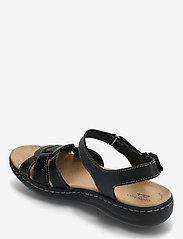 Clarks - Laurieann Sela - platta sandaler - black leather - 2