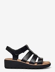 Clarks - Jillian Quartz - platta sandaler - black leather - 1