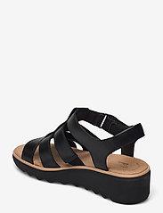 Clarks - Jillian Quartz - platta sandaler - black leather - 2