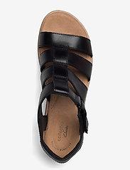 Clarks - Jillian Quartz - platta sandaler - black leather - 3
