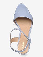 Clarks - Vista Strap - högklackade sandaler - pale blue lea - 3