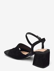 Clarks - Sheer65 Block - högklackade sandaler - black sde - 2