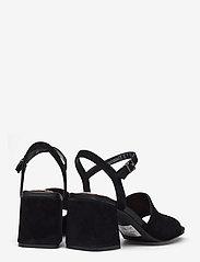 Clarks - Sheer65 Block - högklackade sandaler - black sde - 4