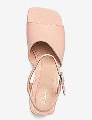 Clarks - Sheer65 Block - högklackade sandaler - light pink lea - 3