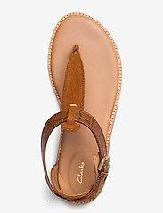 Clarks - Karsea Post - platta sandaler - tan leather - 3
