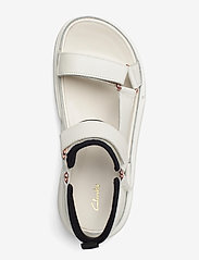 Clarks - TriComet Go - platta sandaler - white leather - 3
