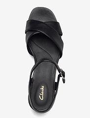 Clarks - Sheer35 Strap - högklackade sandaler - black smooth - 3