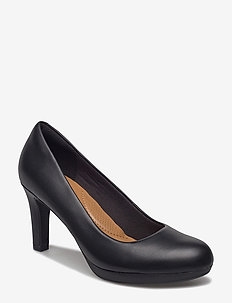 Adriel Viola - klassiska pumps - black leather