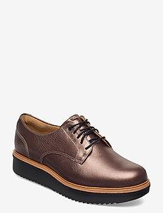 Teadale Rhea - veterschoenen - pewter leather