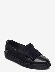Lillia Lottie - loafers - black combi lea