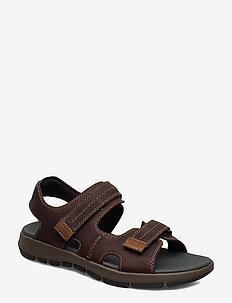 Brixby Shore - dark brown lea