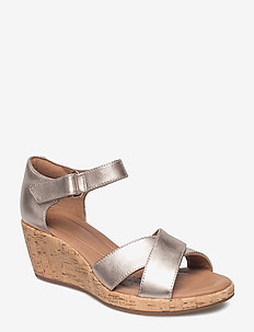 Un Plaza Cross - heeled sandals - gold metallic