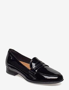 Un Blush Go - loafers - black pat lea