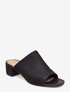 Orabella Daisy - heeled sandals - black nubuck