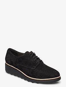 Sharon Noel - buty sznurowane - black nubuck