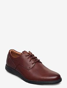 Vennor Walk - snøresko - mahogany leather