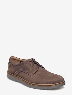 Un Geo Lace - laced shoes - dark brown nub