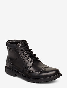 Curington Rise - veter schoenen - blk smooth lea