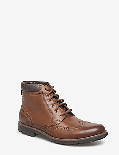 Curington Rise - veter schoenen - tan leather
